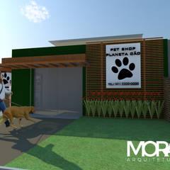 Fachada Comercial   Petshop: Lojas e imóveis comerciais  por MORA Arquitetura