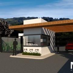 Portaria Condomínio S. | Projeto para nova fachada: Condomínios  por MORA Arquitetura
