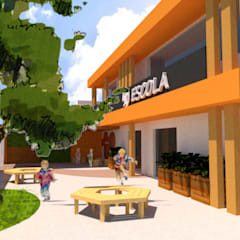 Fachada Escola | Projeto para nova fachada: Escolas  por MORA Arquitetura