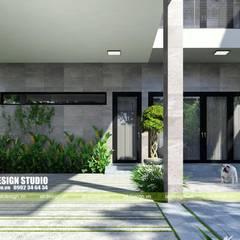 THIẾT KẾ BIỆT THỰ HIỆN ĐẠI 2 TẦNG 10X20M:  Biệt thự by UK DESIGN STUDIO - KIẾN TRÚC UK, Hiện đại