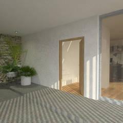 006: Pasillos y recibidores de estilo  por PV Arquitectura