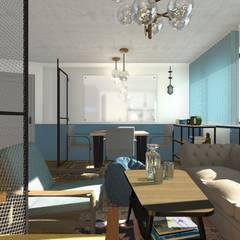 Projekt przestrzeni biurowej w Warszawie: styl , w kategorii Przestrzenie biurowe i magazynowe zaprojektowany przez Tylko Wnętrze Pracownia Projektowa