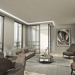 Appartementen Spui DenHaag:  Woonkamer door Lars Bartels, Interior & architecture