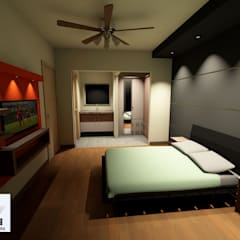 Projekty,  Małe sypialnie zaprojektowane przez ARC ARQUITECTURA