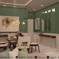 Private apartment :  غرفة المعيشة تنفيذ Amjad Alseaidan