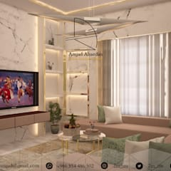 Private apartment من Amjad Alseaidan كلاسيكي زجاج