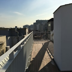 필운동 단독주택(협소주택) 서랍: (주)건축사사무소 더함 / ThEPLus Architects의  지붕,모던