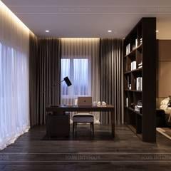 Thiết kế nội thất biệt thự hiện đại - Sang trọng đẳng cấp:  Phòng học/Văn phòng by ICON INTERIOR