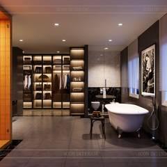 Thiết kế nội thất biệt thự hiện đại - Sang trọng đẳng cấp:  Phòng tắm by ICON INTERIOR