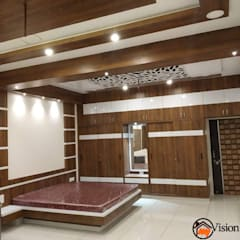 Bedroom with wardrobes:  Bedroom by My Vision Interiors