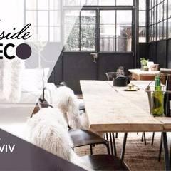 Rénovation d'un appartement sur Tel-Aviv: Salle à manger de style  par Agence Inside DECO