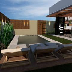 Piscinas de jardín de estilo  por Traço B Arquitetura