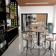 Espaço gourmet: Cozinhas embutidas  por Traço B Arquitetura