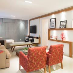 Apartamento Horizontes Salas de estar ecléticas por C2HA Arquitetos Eclético