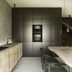 Projekt wnętrz domu / Białka Tatrzańska: styl , w kategorii Aneks kuchenny zaprojektowany przez MVWV studio