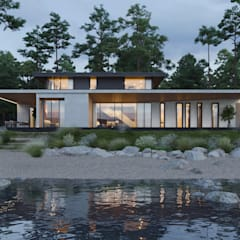 The Villa on the River: Вилла в . Автор – Kerimov Architects, Модерн