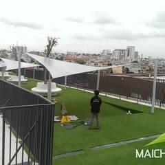 Mái che tại trường quốc tế Việt Úc TPHCM:  Hiên, sân thượng by Công ty TNHH Havico Việt Nam