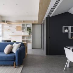 الاسكندنافية، الممر، رواق، &، درج من 寓子設計 إسكندينافي