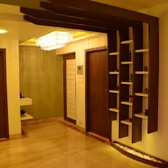 LOK NIRMAN 1800 sqft :  Corridor & hallway by Aesthos Interior Design and Consultancy,Asian