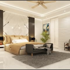 duplex home at meerut:  Bedroom by Designsinvent