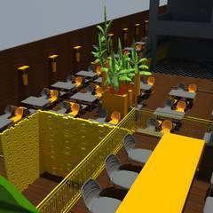 DETAY MİMARLIK MÜHENDİSLİK İÇ MİMARLIK İNŞAAT TAAH. SAN. ve TİC. LTD. ŞTİ. – Restorant Tasarımı:  tarz Teras