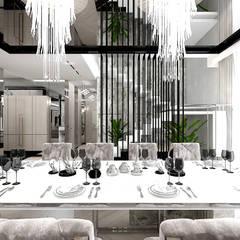 elegancka jadalnia: styl , w kategorii Jadalnia zaprojektowany przez ARTDESIGN architektura wnętrz