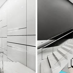 projekt schodów w budynku kliniki: styl , w kategorii Kliniki zaprojektowany przez ARTDESIGN architektura wnętrz