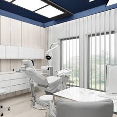 aranżacja gabinetu stomatologicznego: styl , w kategorii Kliniki zaprojektowany przez ARTDESIGN architektura wnętrz