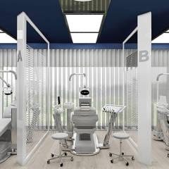 nowoczesna aranżacja kliniki stomatologicznej - gabinety: styl , w kategorii Kliniki zaprojektowany przez ARTDESIGN architektura wnętrz