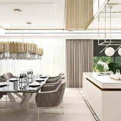 HEART OF GOLD   Wnętrza domu: styl , w kategorii Jadalnia zaprojektowany przez ARTDESIGN architektura wnętrz