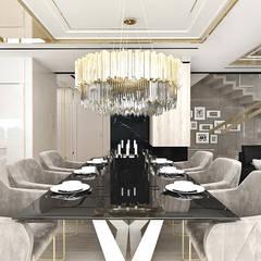 HEART OF GOLD | Wnętrza domu Eklektyczna jadalnia od ARTDESIGN architektura wnętrz Eklektyczny