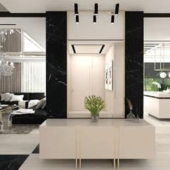 Pasillos y hall de entrada de estilo  por ARTDESIGN architektura wnętrz