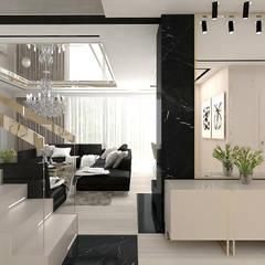 hol i schody: styl , w kategorii Korytarz, przedpokój zaprojektowany przez ARTDESIGN architektura wnętrz