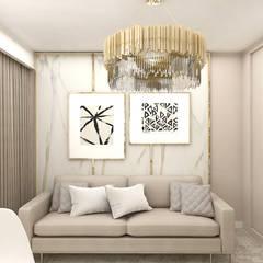 pokój gościnny/gabinet: styl , w kategorii Domowe biuro i gabinet zaprojektowany przez ARTDESIGN architektura wnętrz