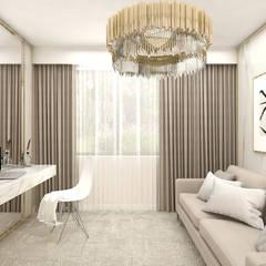 elegancki gabinet w domu: styl , w kategorii Domowe biuro i gabinet zaprojektowany przez ARTDESIGN architektura wnętrz