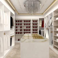 HEART OF GOLD | Wnętrza domu: styl , w kategorii Garderoba zaprojektowany przez ARTDESIGN architektura wnętrz