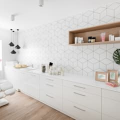 Realizacja projektu gabinetu kosmetycznego w Kołobrzegu: styl , w kategorii Kliniki zaprojektowany przez MO Architekci
