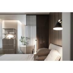 Projekty,  Małe sypialnie zaprojektowane przez WITHJIS(위드지스)