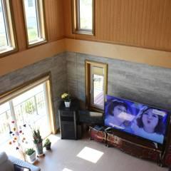 경주 안계리 주택 [행복이 가득한 집]: 나무집협동조합의  거실,지중해