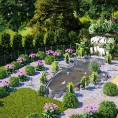 Garden Pond by CNR İNŞAAT VE MİMARLIK