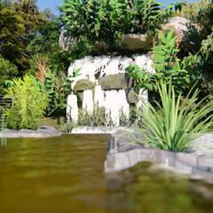 Estanques de jardín de estilo  por CNR İNŞAAT VE MİMARLIK