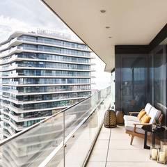 Balcón de estilo  por Sonraki Mimarlık Mühendislik İnş. San. ve Tic. Ltd. Şti.,