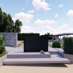 L'accesso dal parcheggio: Garage/Rimessa in stile  di DFG Architetti