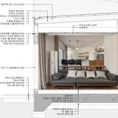 곤지암 단독주택-'품': (주)건축사사무소 더함 / ThEPLus Architects의  목조 주택
