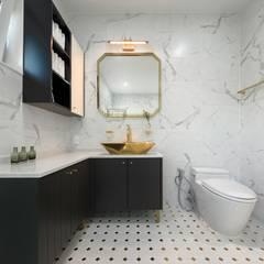 곤지암 단독주택-'품': (주)건축사사무소 더함 / ThEPLus Architects의  욕실