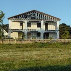 MESKEN ÇELİK YAPI – Dağ Evi - Gazbetonlu Hafif Çelik / 4 mevsimlik :  tarz Evler