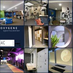 OXYGENE Sportcenter Pau: Espaces commerciaux de style  par VALERIE BARTHE AiC