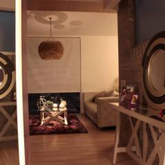 Iluminación. Penthouse AVE.: Pasillos y recibidores de estilo  por emARTquitectura