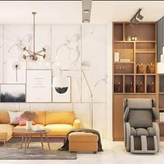 Không gian nội thất phòng khách:  Phòng khách by Công ty TNHH Nội Thất Mạnh Hệ
