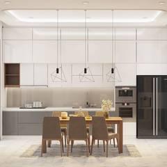 Nội thất nhà bếp hiện đại:  Nhà bếp by Công ty TNHH Nội Thất Mạnh Hệ